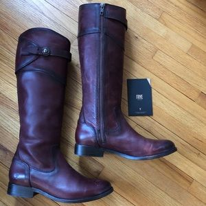 Frye Molly Button Tall Riding Boots